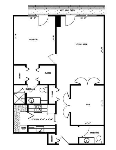 One-bedroom with den