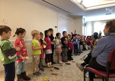 The Rockwell preschool sang adorable songs to some of our residents. It was a lovely morning!